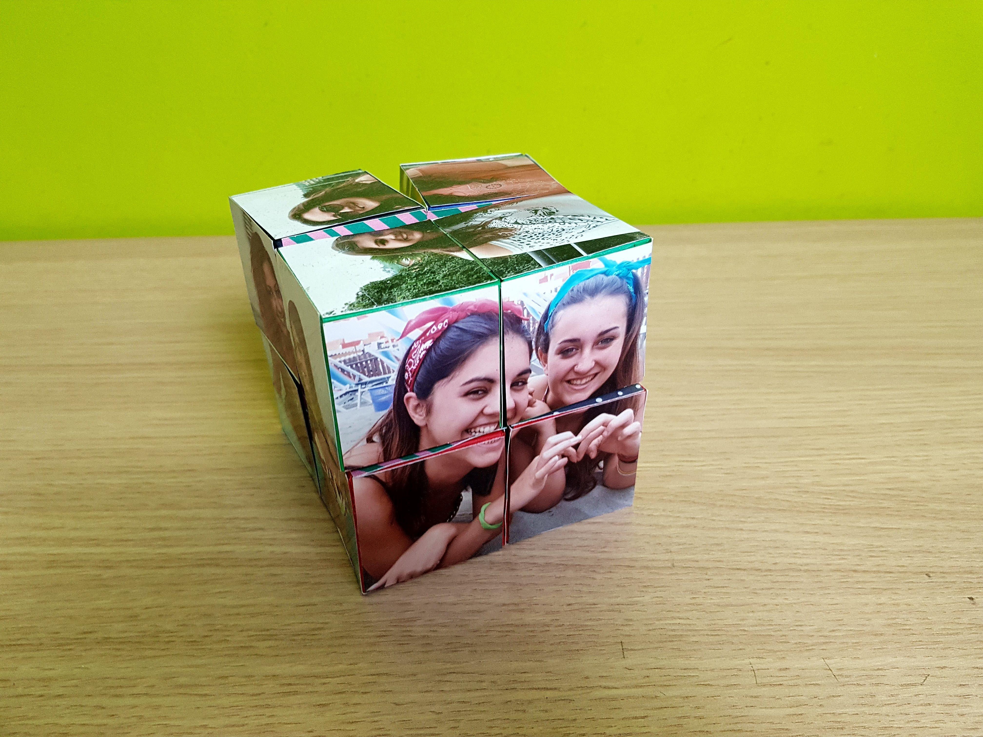 Cubo Magico Portafoto DIY Tutorial in Italiano