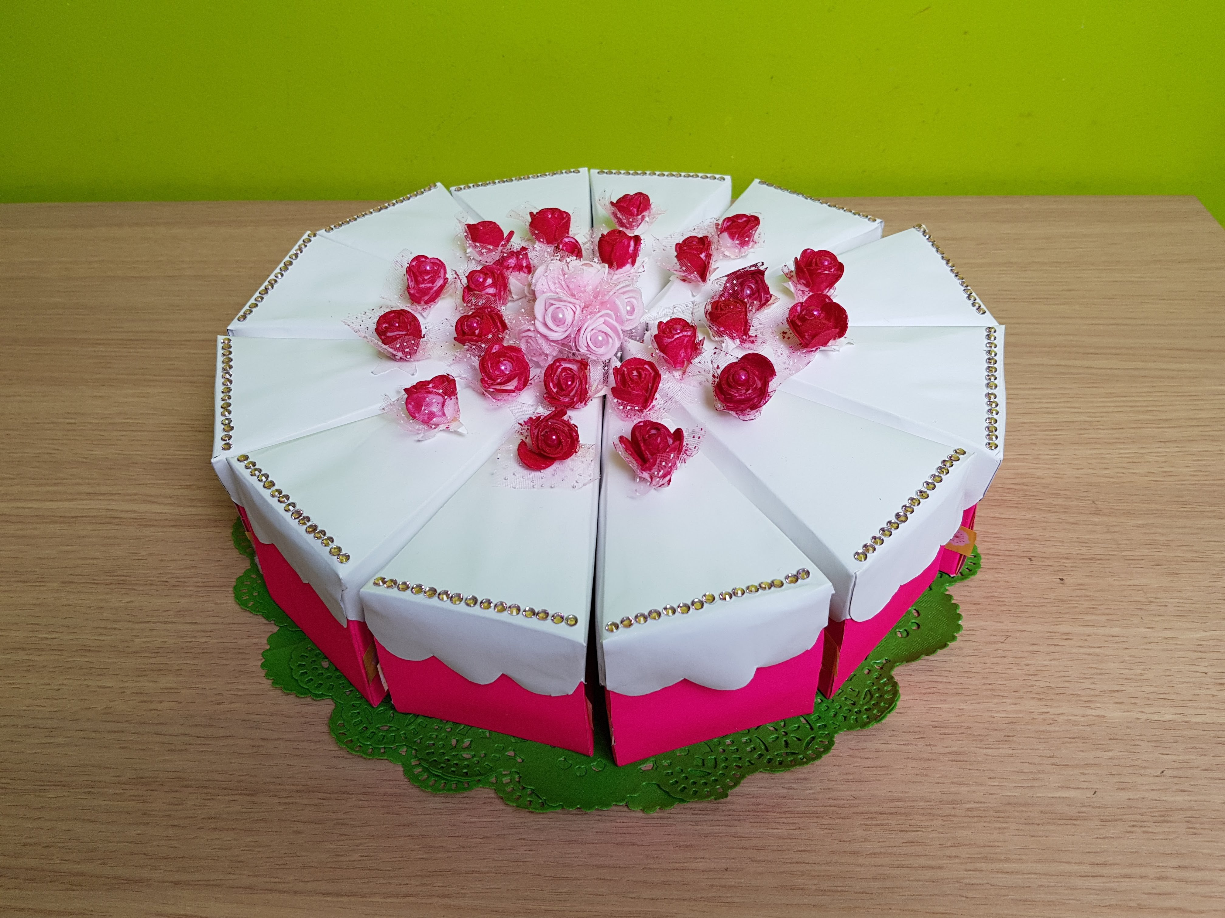 TORTA BOMBONIERA SLICE OF CAKE BOX TUTORIAL DIY