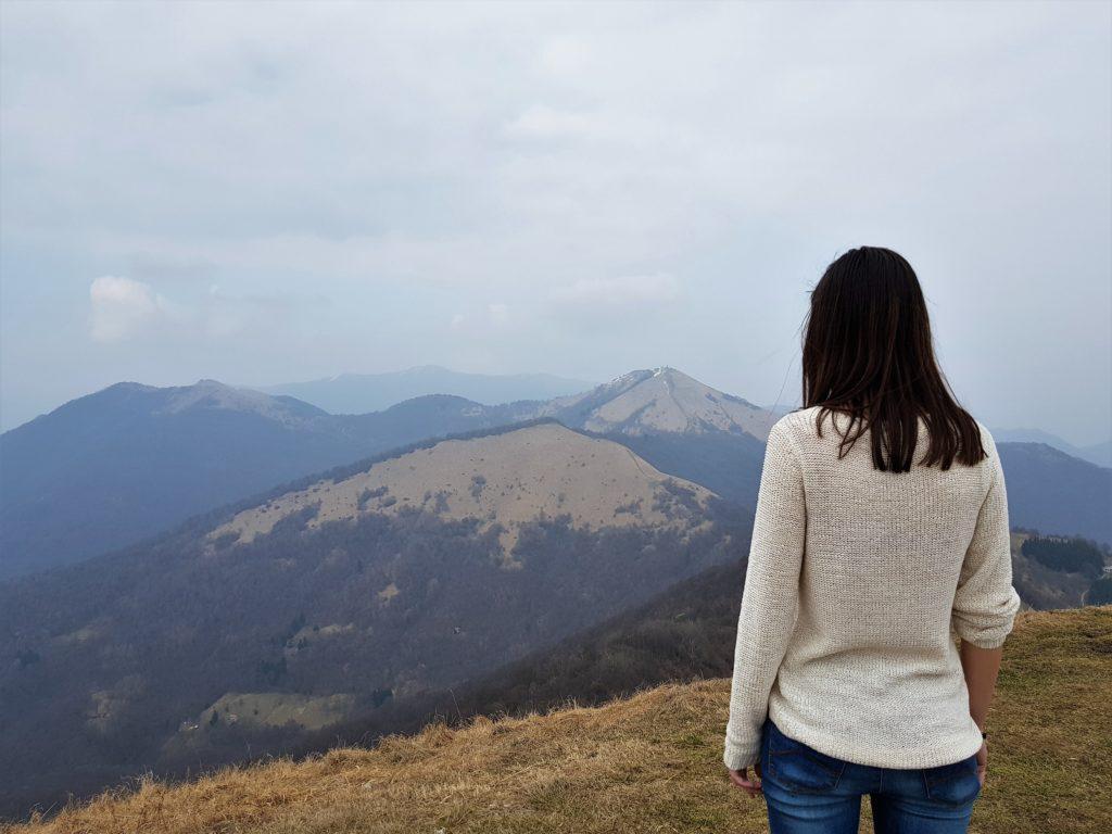In cima al monte Bolettone