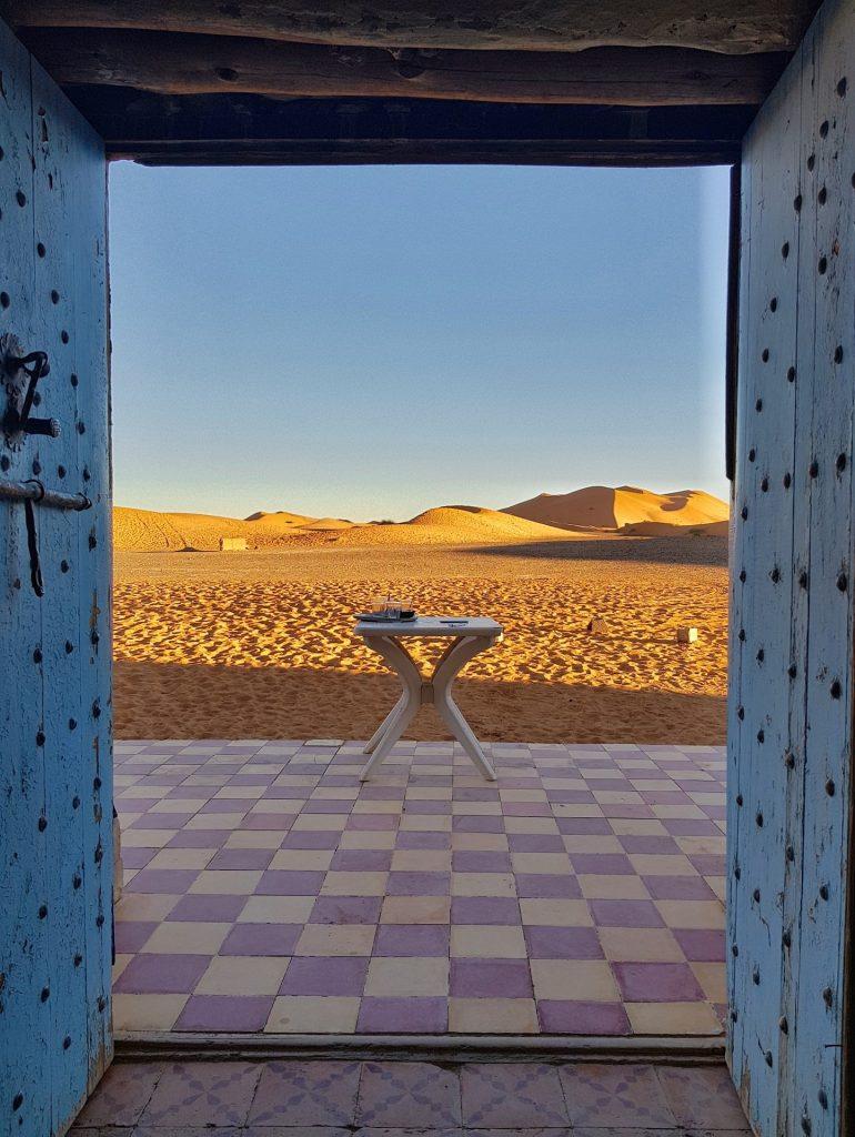 Porte di ingresso al deserto di merzuga sahara