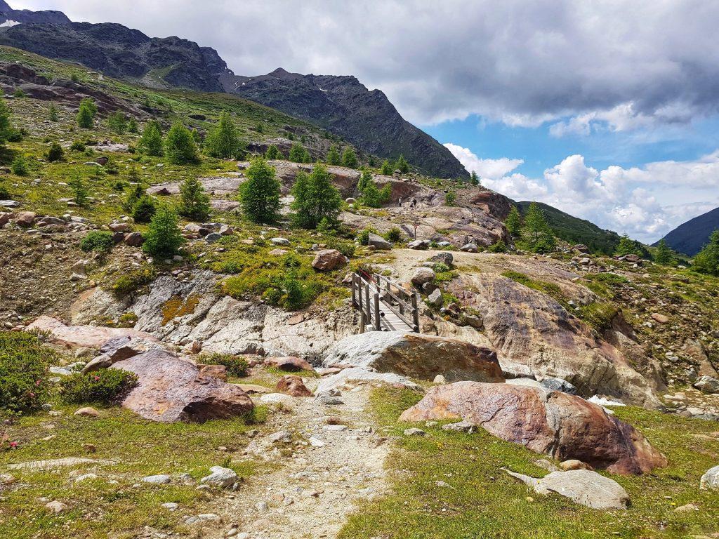 Ponte in legno sentiero glaciologico