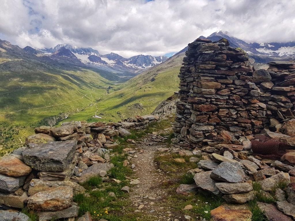 punto panoramico sentiero glaciologico reperti